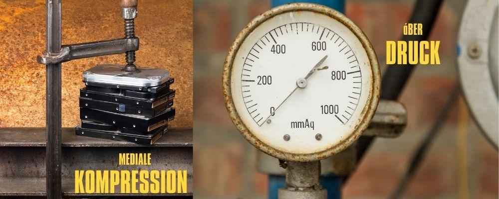 Mediale Kompression, Luftdruck, Überdruckventil