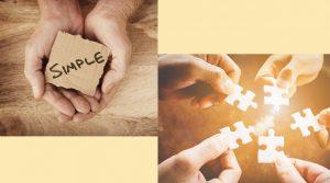 Hand mit Schild, simple, Puzzle Teile