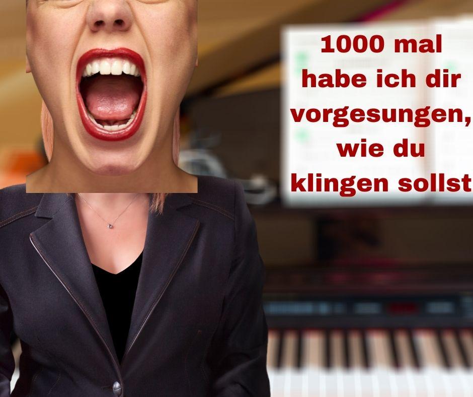 Klavier, schimpfende Lehrerin